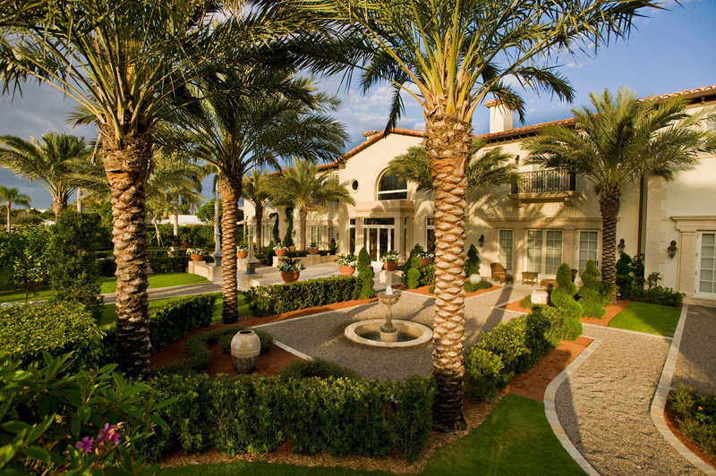 Fan Palm Road Mediterranean Home
